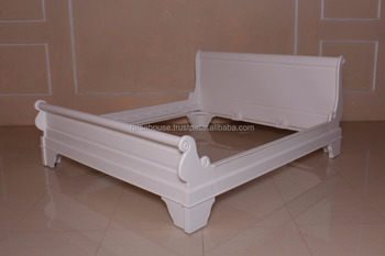 Mahogany Furniture-KING SIZE LOUIS PHILIPPE SLEIGH BED LOW FOOTBOARD-French Furniture Indonesia-Antique Furniture