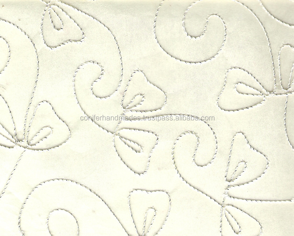 Embroidered Scrapbooking Handmade Paper in size 12*12 ""