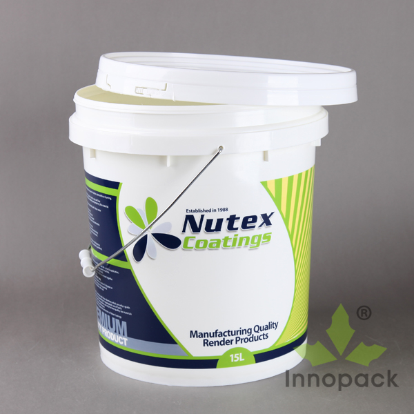 1 gallon white plastic bucket with handle for 4kg paint canned