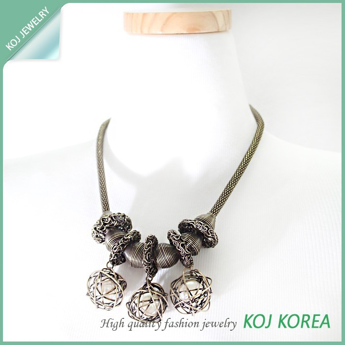 KR-571antic gold pearl necklace jewelry hot sale