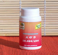 Natural Point A & d 10000/400 Food Supplement 100 Capsules