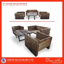 Recycled Railway Wood Sofa for living Room - Railway Wood