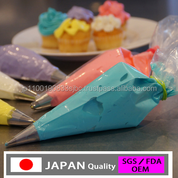 disposable icing bag for cupcake , for bakers , made in Japan