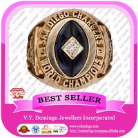 NEW PRODUCT gold high quality 1963 Sandiego chargers world championship ring design