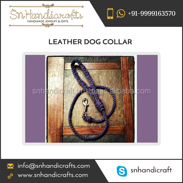 Dog Training Leash Leather Material Made from Bulk Manufacturer