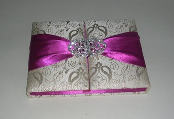 manufacturer of designer silk designer wedding card folio in box with sweets slot silk folio invitations
