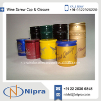 Colourful Printed Polished Custom Wine Bottle Shrink Caps Available at Affordable Rate