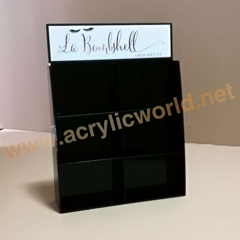 Black Acrylic Cosmetic Lipstick Display Stands Wholesales/acrylic cosmetic display stand