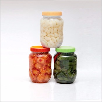 New style PET clear plastic cookie jar and container for food with open lid-Skype: thao.huynh55;