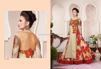 Raw Silk Cream Resham Work A Line Lehenga Choli