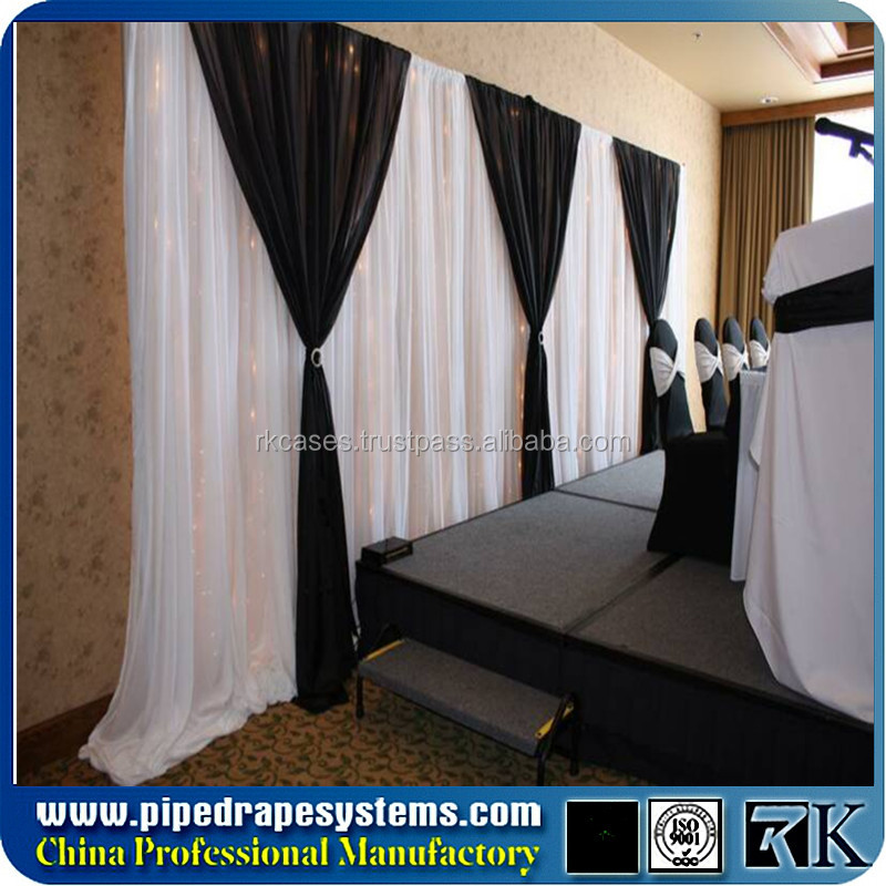 Portable backdrop poles movable curtain rods with foldable pipe