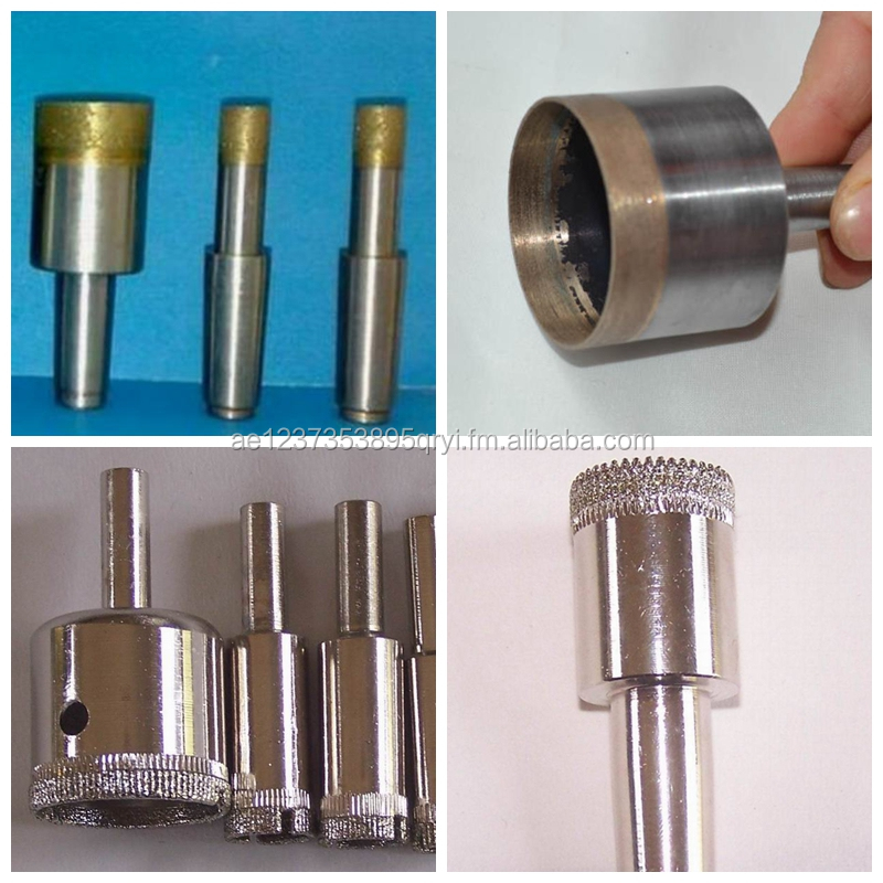 6mm 8mm Sintered or electroplated diamond core drill bit for porcelain tile glass