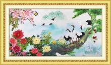 ribbon embroidery pictures, cross stitch picture handmade.