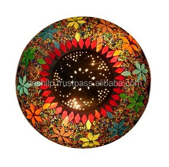 MOSAIC CEILING LIGHT,DESIGN GLS CEILING LIGHT,DIWALI CEILING,METAL WITH CEILING LIGHT ,LIGHTING FIXTURE CONE CEILING LIGHT