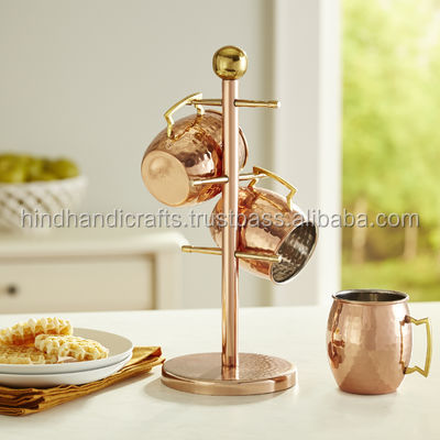 Moscow Mule Hanging Tree, Cup Hanging Copper Wire Stand, Kitchen Mug Tree
