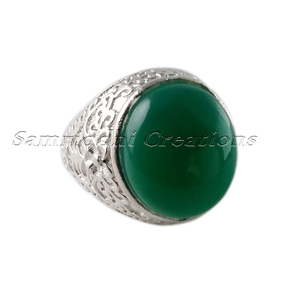 Silver Jewelry !! Green Onyx 925 Sterling Silver Bezel Setting Ring, Handmade Silver Jewelry, Gemstone Jewelry