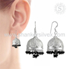 Wedding Special 925 Silver Black Onyx Jhumka Earring Wholesaler Indian Silver Jewelry Online Offers