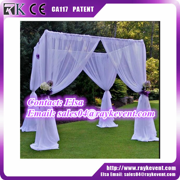 US metal pipe mandap outdoor pipe and drape elegant canopy backdrop stand from China fanctory