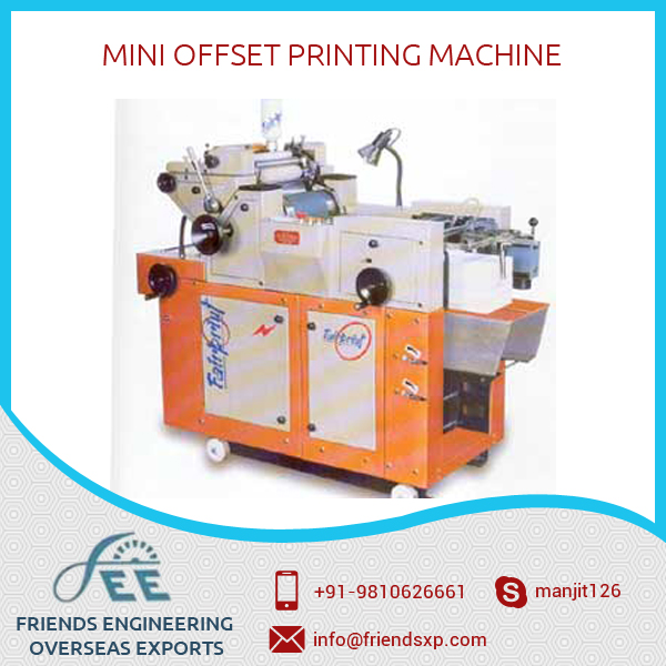 Hot Selling Mini Offset Printing Machine with High Speed Roller