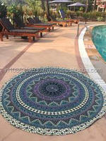 52' Indian Mandala Round Tapestry Hippie Beach Throw Towel Boho Roundie Indian art Round Mandala Tapestry Throw Towel wholesale