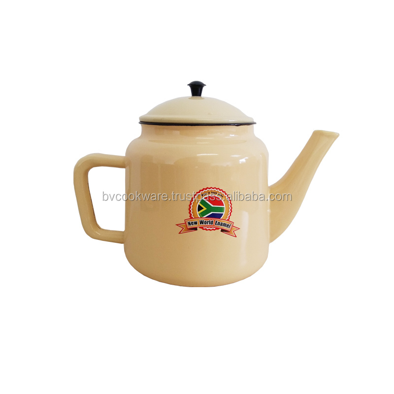 made in south africa duty free hot sales Enamel Tea Pot1.9Lt/3.0Lt/4.5lt