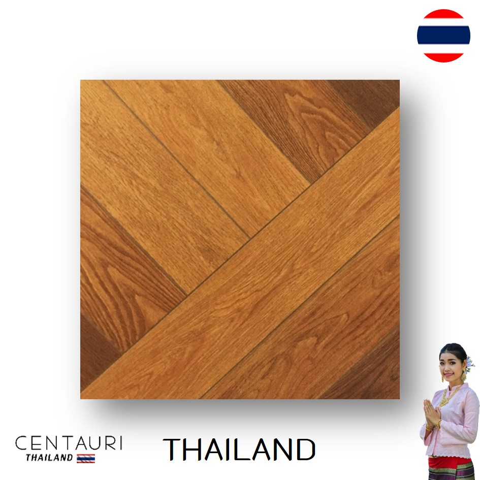 Luxury Tawny Brown Wooden Pattern Polished Granito Floor Tile and Great Quality Interior Floor Tile from Thai Supplier