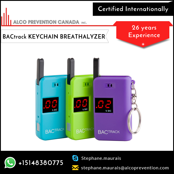 Popular Distributor of Keychain Breath Alcohol Tester Available at Economical Cost