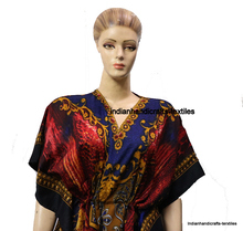Indian Full Length Beach Wear Kaftan Boho Kimono Caftan Long Gown Robs Sleepwear