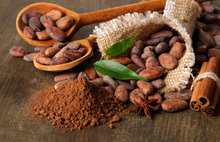 Cocoa beans readily available for export