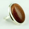 Red Sun Stone Oval Shape 925 Sterling Silver Ring, Silver Jewelry Exporter, Silver Jewelry 925