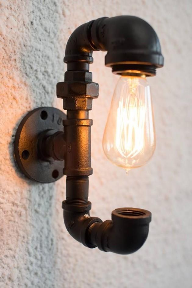 """DIY en fer forgé lampe de table avec 1/2 """"-1"""" raccords de ..."""