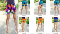 HIPPIE BOHO print graphic floral mix chic music festival shorts pants summer beach sexy POM POMstyle
