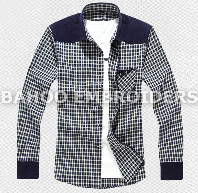 Men's Plaid Checked Patchwork Casual Shirts | Casual Shirts