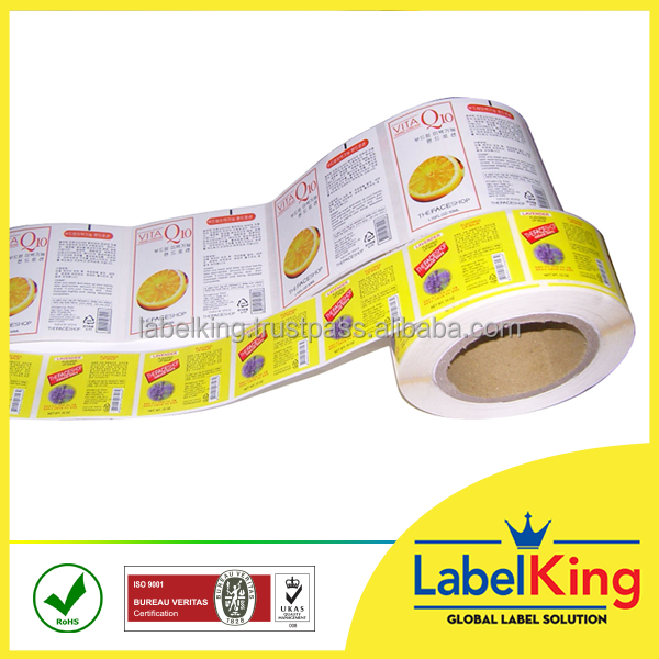Hot selling custom glossy matt laminated printed paper, PVC label