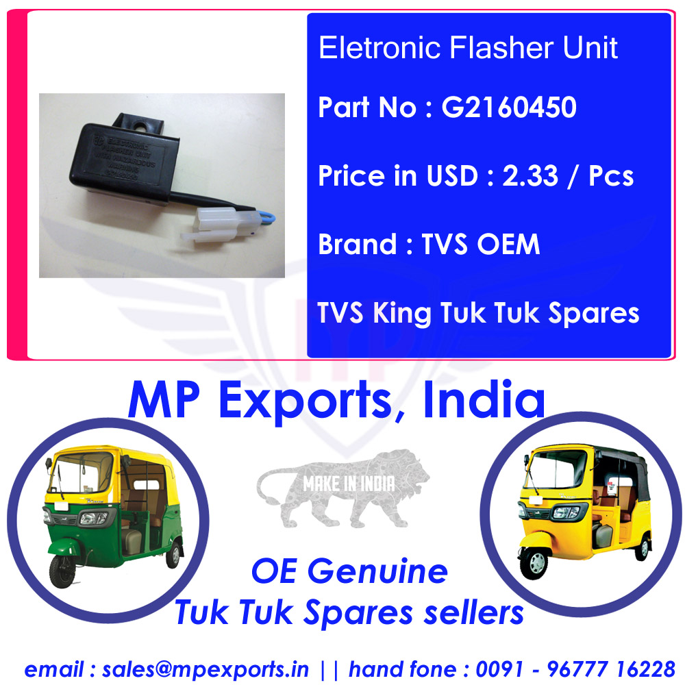 Tvs King Tuk tuk Spares Electronic Flasher Unit