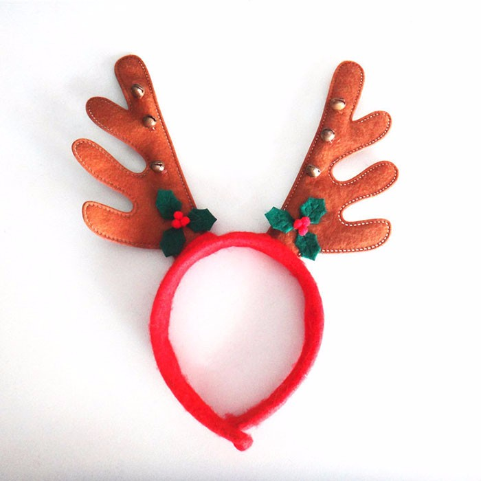 REINDEER ANTLERS Ears Headband Christmas Kids/ Adult Costume Accessory Hat Christmas Party Costume