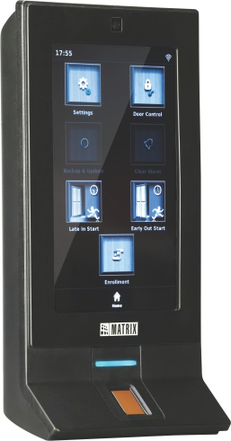 Fingerprint and RFID Card based Door Controller with Touchscreen and Camera
