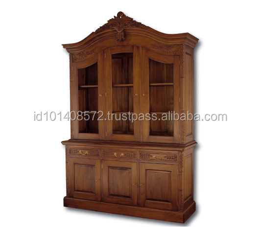 Mahogany Book Case Fred 3 Indoor Furniture