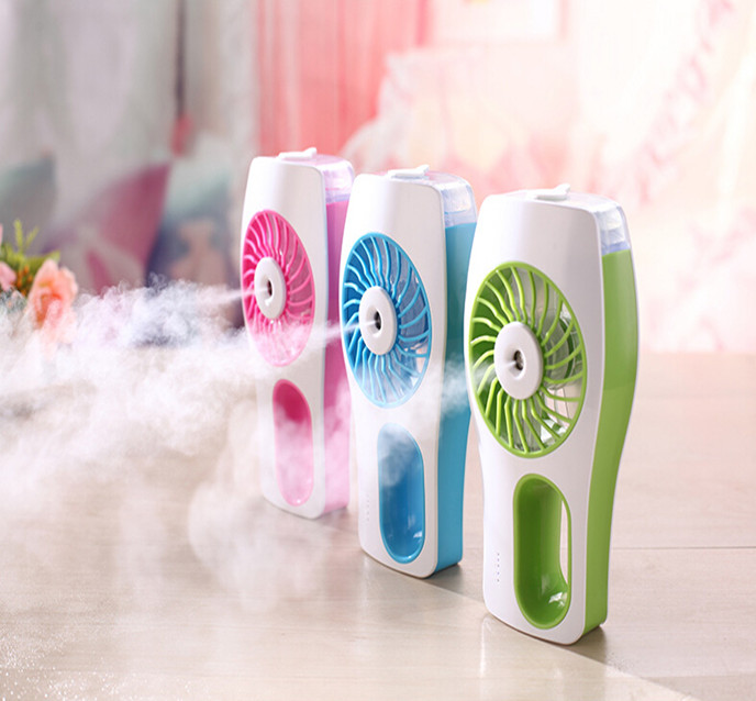 hot selling ! ultrasonic personal mini usb 2 in 1 cooling korean air humidifier fogger mist maker as seen on tv