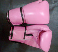 high quality leather boxing gloves / professional boxing gloves with Velcro strap