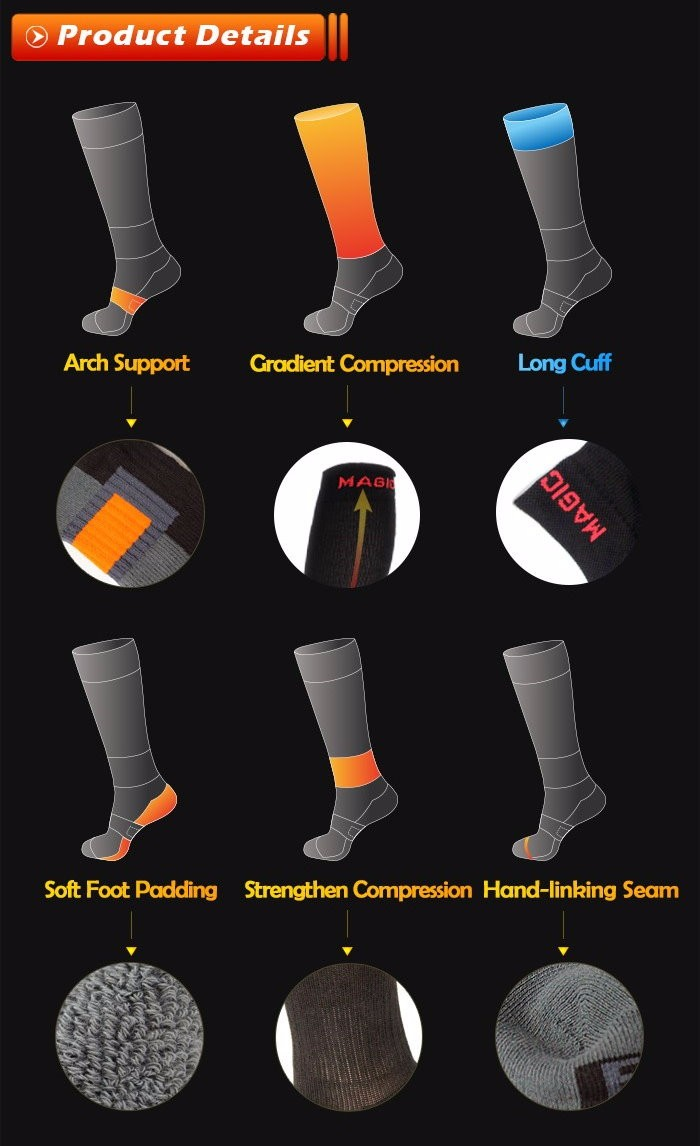 Air Travel Foot Padding with Seamless Toe Compression Socks