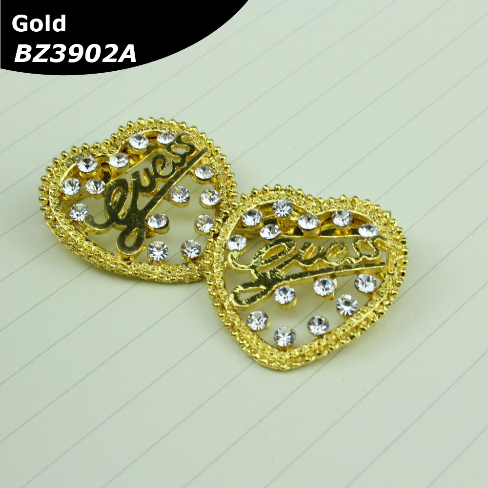 Rhinestone Kiri Kanan Brooch Kerongsang Malay Muslim design for tudung