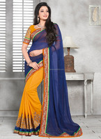 Saree fancy blouse designs