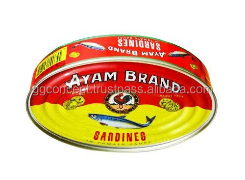 Ayam Sardines in Tomato Sauce 425g (Oval)