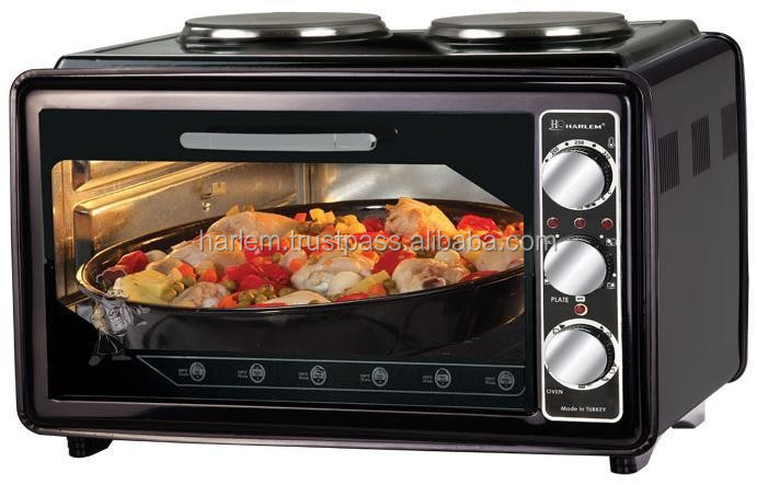 Electrical Mini Oven with Thermostat,Timer and Two (2) Hotplates