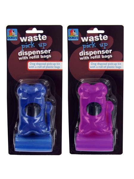 Dog Waste Bag Dispenser with Refill Bags