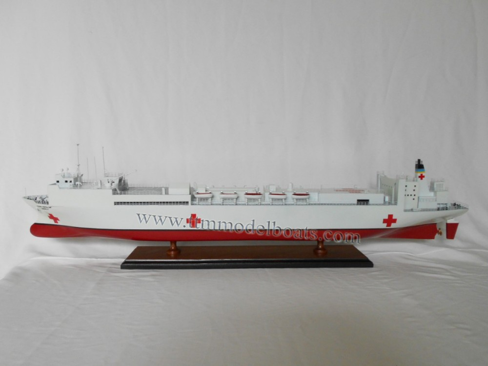 U.S.NAVAL HOSPITAL SHIP MERCY High Quality Wooden Model Boat & Ships