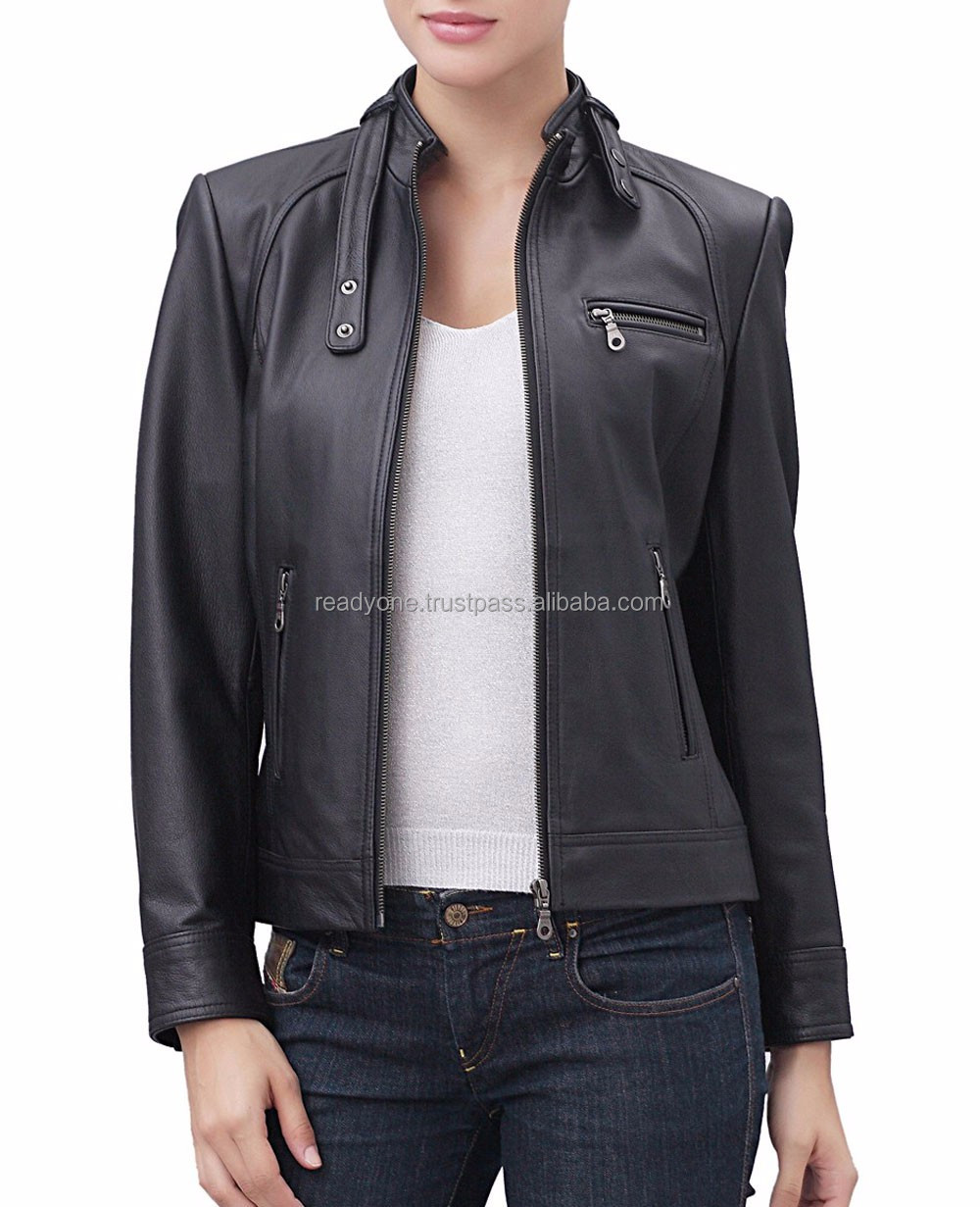 OEM bulk wholesale Hi-end fashion fall winter pu leather jacket women
