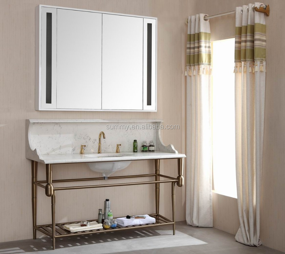 modern design bath cabinet vanity plastic bathroom mirror