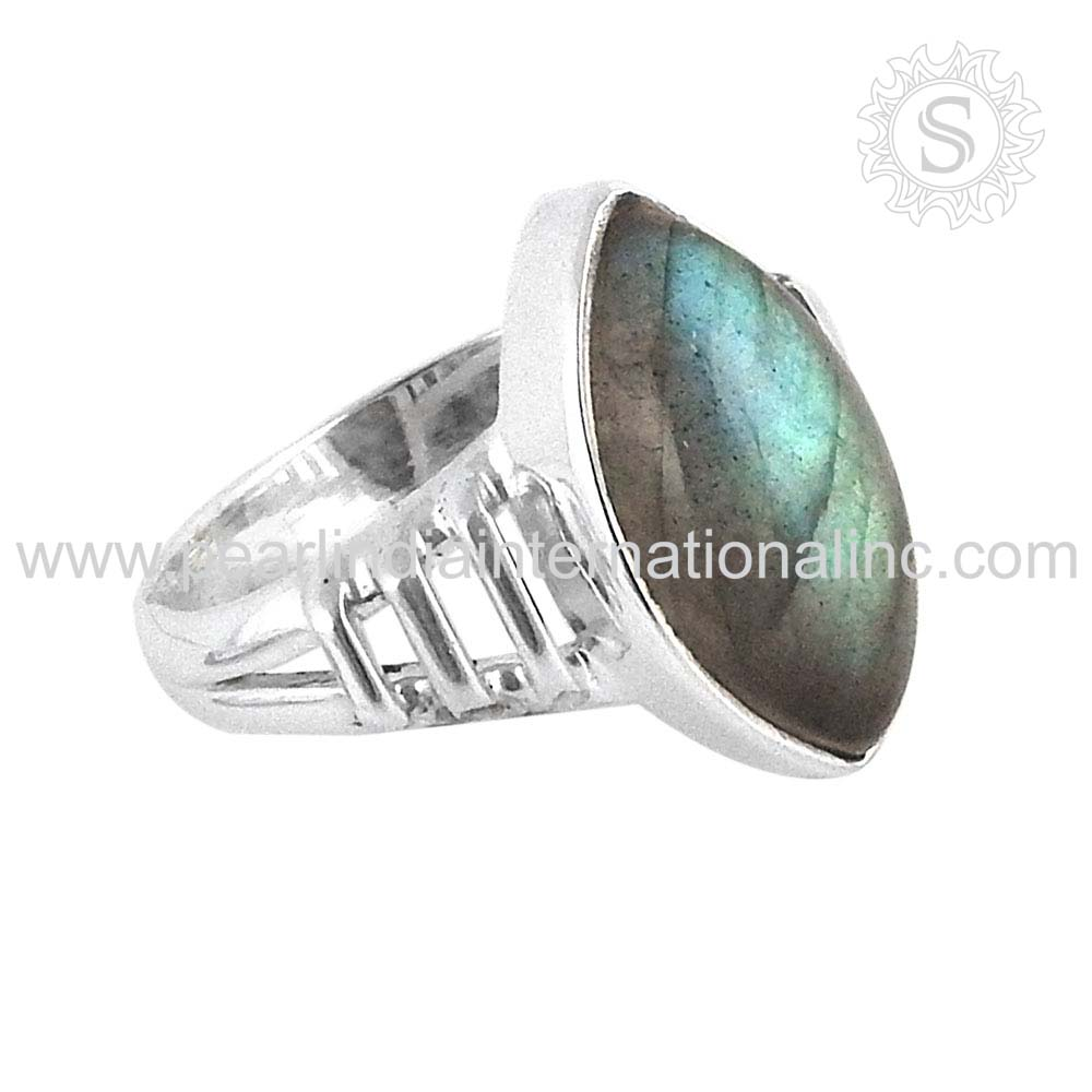 Charming Marquise Labradorite 925 Sterling Silver Jewelry Wholesale Ring Price Per Gram